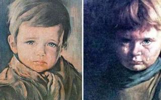世界三大禁画:哭泣男孩\耶稣画像\迪奥的世界