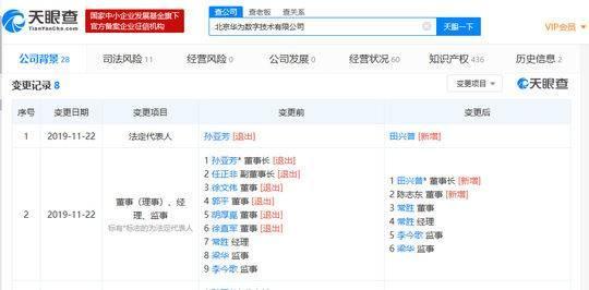 任正非卸任北京华为数字技术有限公司副董事长-第1张图片-IT新视野