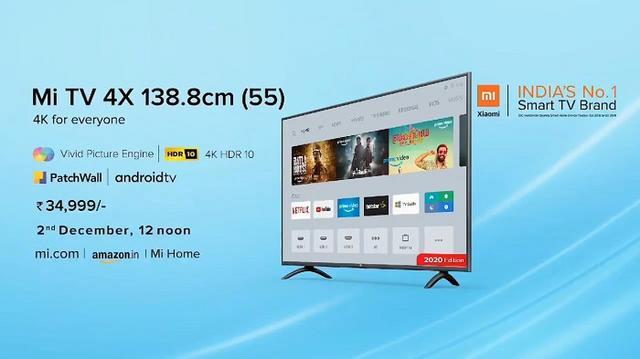 2020款小米电视4X正式发布,售价3440元-第1张图片-IT新视野