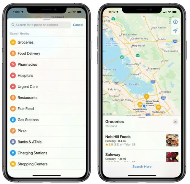 苹果地图更新搜索功能 重点关注超市、食品快递、药店和医院-第1张图片-IT新视野