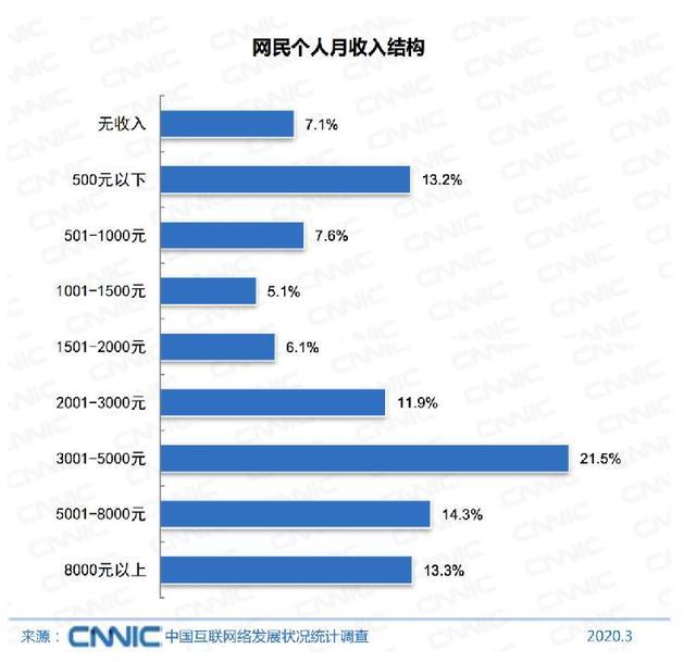 报告:全国网民超9亿,6.5亿网民月收入不足5000元-第2张图片-IT新视野