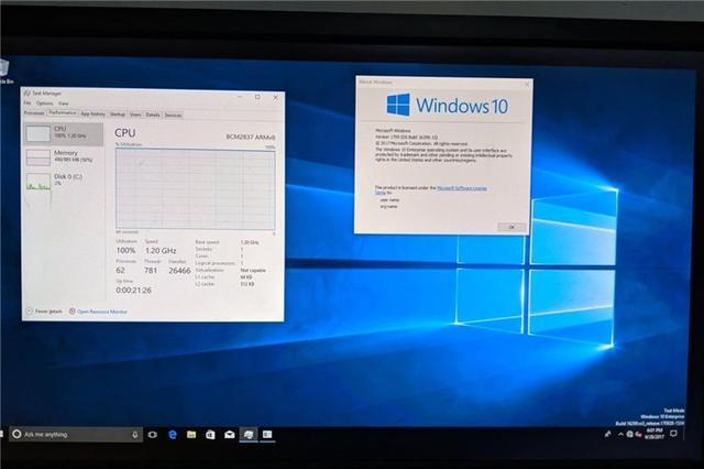 树莓派4刷入Windows 10 ARM,CPU性能被榨干-第1张图片-IT新视野