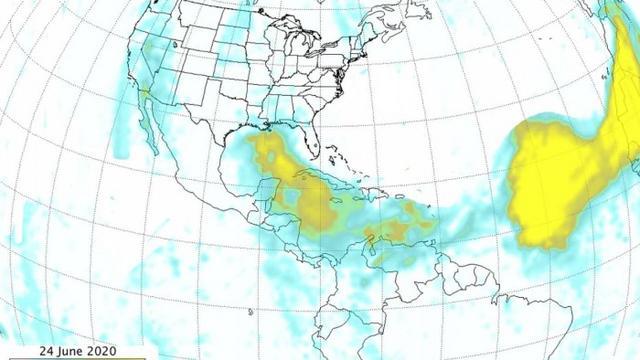 NASA撒哈拉沙漠新图像揭示沙尘覆盖规模之大-第1张图片-IT新视野